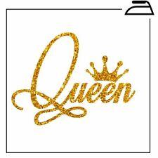King Queen Iron On T Shirt Transfer Hen Vinyl His Hers Couples Bride Wedding