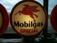 gas pump globe MOBILGAS SPECIAL repro. 2 glass lenses   NEW