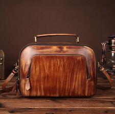 New Vintage Women's Real Genuine Leather Shoulder Messenger Bag Handbag Purse S