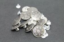10 Jeansknöpfe 17mm Durchmesser Altsilber Hosenknöpfe Ersatzknöpfe Metallknöpfe