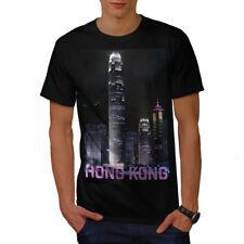 Wellcoda Hong Kong Night Fashion Mens T-shirt, China Graphic Design Printed Tee