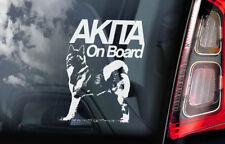 Akita on Board - Car Window Sticker - American Inu Ken Sign Decal Gift Idea -V01