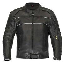Classique Veste en cuir haute qualité CHOPPER Blouson moto noir gr. S jusqu'à
