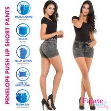 Colombian Push Up Denim Jeans High Rise Waistband Butt Lifter Short Pants Cysm