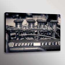 Ford GT40 Gurney Eagle Engine Webber Car Automotive Photo Wall Art Canvas Print