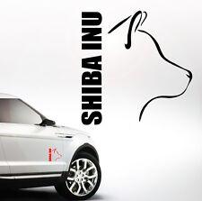 Auto Aufkleber SHIBA INU Profil Hund Hunde Wilsigns SIVIWONDER