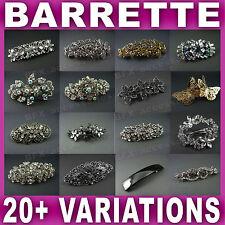 HAIR BARRETTE CLIP french clips barrettes slide slides VINTAGE DIAMANTE crystal