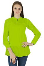 Green Top Sundress Women Clothing Cotton Dress Summer Casual Tunic Boho Wear