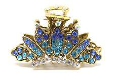 USA Hair Claw Rhinestones Crystal Hairpin Metal Crown hair claw clamp Clip woman