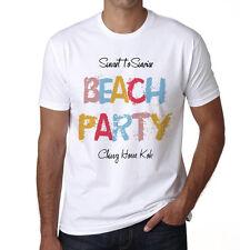 Chung Hom Kok, Beach Party Tshirt, Blanc Tshirt Homme, Cadeau Tshirt