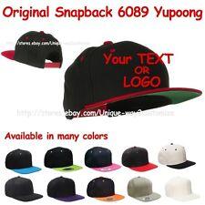 Personalized Custom make Snapback cap Quality Stitching Yupoong Flexfit 6089