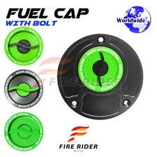BK/GR CNC Quick Lock Fuel Cap Set For Kawasaki ZX-6R 06-13 07 08 09 10 11 12 13