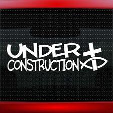 Under Constuction #1 Christian Car Decal Truck Window Vinyl Sticker (20 COLORS!)