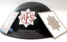 WW2 British Civil Defence AFS Helmet Stencil Decal Warden Rescue GWR LMS FAP