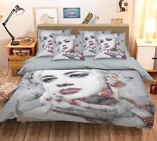 3D Beautiful Women 421 Bed Pillowcases Quilt Duvet Cover Set Single Queen Ca