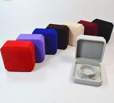"1.6x3.5x3.5"" Deluxe VELVET Bangle Bracelet Watch Presentation Jewelry Gift Box"