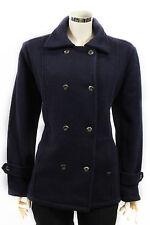 Cappotto da donna blu doppiopetto Insport lana giacca casual moda bottoni tasche
