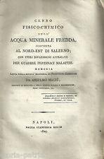 CAMPANIA_SALERNO_MEDICINA_CHIMICA_ACQUE MINERALI_MACRI'_ANTICA RARA EDIZIONE_800