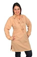 Wunderschöne Orientalische Damen Tunika Bluse mit Stickerei in beige -  FT0048