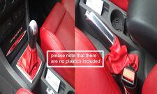 Cuero rojo se adapta a Ford Focus Mk2 Mk3 05-11 Gear & Freno De Mano Polainas