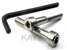 M6(6mm) SOCKET CAP SCREWS ALLEN KEY BOLTS A2 STAINLESS STEEL + FREE ALLEN KEY