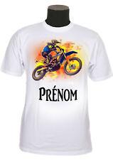 tee shirt enfant motocross personnalisé prénom au choix réf 169
