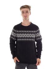 O`Neill Knitted Jumper Top Scarab Black Pattern Warm