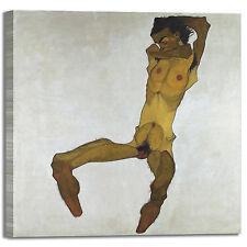 Schiele nudo maschile seduto quadro stampa tela dipinto telaio arredo casa