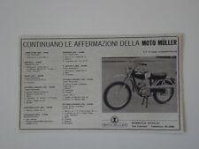 advertising Pubblicità 1969 MOTO MULLER CT CROSS COMPETIZIONE