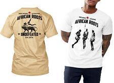 African Roots t-shirt, black history month, MLK, Angela Davis, Malcolm X