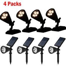 4 LED Solar Garden Lamp Spot Light Outdoor Lawn Landscape Spotlight Lighting USA