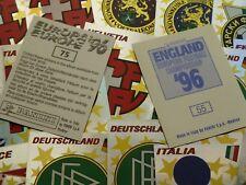 Panini Euro 96 Badges (BLUE & BLACK Backs)