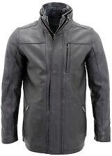 Hommes's classique chaud en cuir noir perfecto