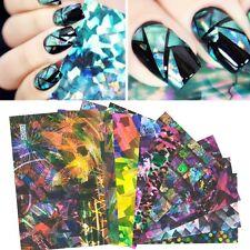 Nail Art Nagelfolie Nagel Schablone Laser Sticker Nagelaufkleber