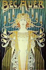 Vintage Decoration & Design Deco POSTER.Art Nouveau Woman.Room Decor.926