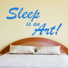 Sleep Is An ARTE CAMERA DA LETTO ADESIVI MURALI ARTISTICI