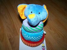 Garanimals Wood & Plush Elephant Stacker Infant Baby Toy Bright Colors New