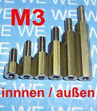 M3 5-50mm (MIA) DISTANZHÜLSEN - DISTANZBOLZEN - ABSTANDSHALTER - ABSTANDSHÜLSEN