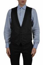 Dolce & Gabbana Men's Black Silk Five Button Vest US 34 38