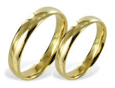 ECHT GOLD *** 2 x Trauringe Eheringe schlicht, glänzend, 4 mm breit
