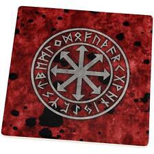 Viking Warrior Chaos Symbol Set of 4 Square Sandstone Coasters