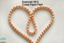 100 Beads Swarovski #5810 Crystal Peach Pearl 001-300