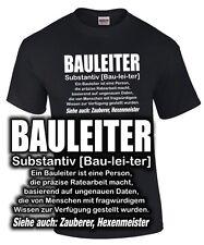 BAULEITER Fun T-Shirt Beruf Defintion Duden Spruch lustig Zauberer Hexenmeister