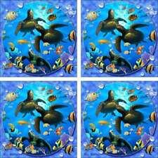Undersea Art Accent & Decor Tile Set Wilkie Fish Ceramic Backsplash POV-JWA039AT