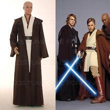 5pcs Star Wars Mens Costume set Obi-Wan Kenobi Jedi Size S-3XL