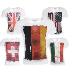 Key Largo Herren WM Fußball Trikot T-Shirt Flag slimfit Vintage Look Deutschland