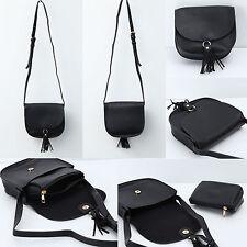 Korea Women Halfmoon Tassel Cross Bag Handbag Pouch Clutch Shoulder FauxLeather