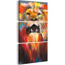 Wandbilder xxl Löwe wie gemalt Leinwand Bilder groß Wohnzimmer  g-A-0133-b-e