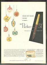PARKER 51 PENS 1951 Aero-metric Ink System AD advertisement