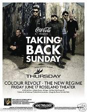 Taking Back Sunday / Thursday / Colour Revolt 2011 Portland Concert Tour Poster